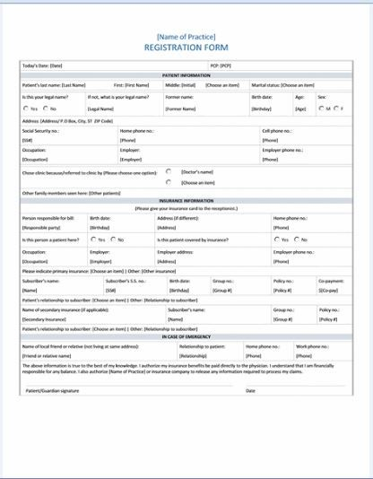 Sample Patient Registration Form  Aga Khan University Hospital