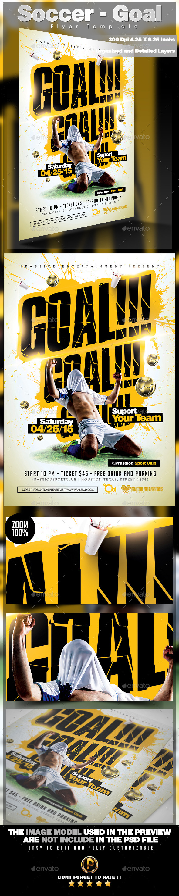 Soccer - Goal Flyer Template | Flyer template and Template