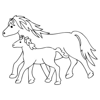 "marabu window color malvorlage ""fohlen und pferd"" #marabu"