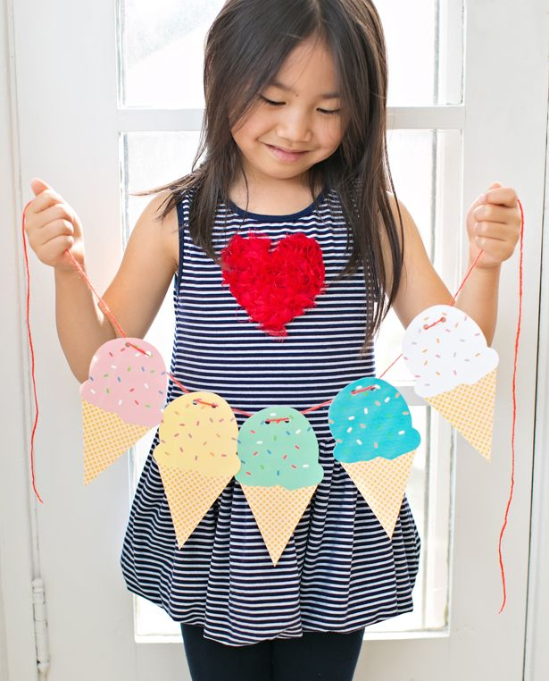 hello, Wonderful - FREE PRINTABLE ICE CREAM CONE GARLAND
