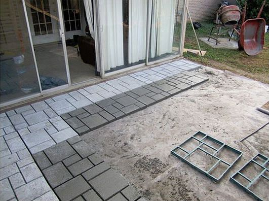 diy cool creative patio flooring ideas 01 - Patio Flooring