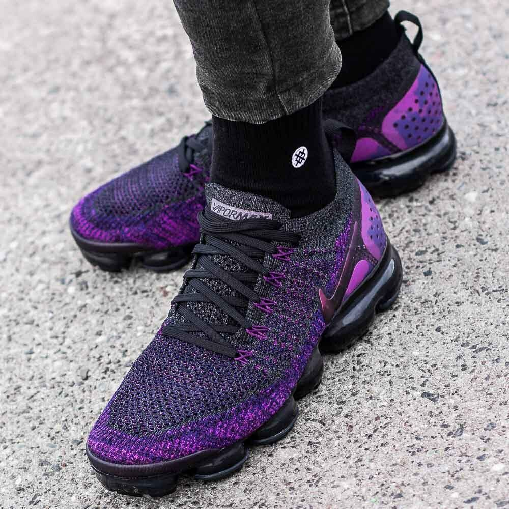 nike air vapormax flyknit 2 black purple