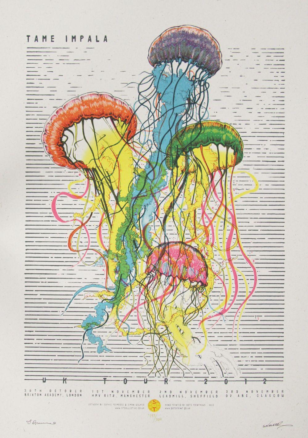 Tame Impala Poster Cartel De Concierto Carteles Del Arte Produccion Artistica