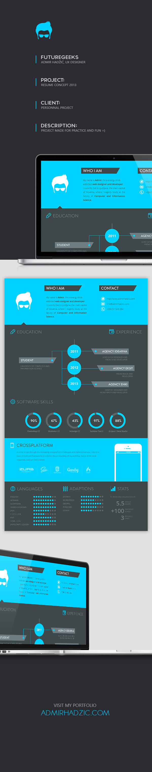 20 cool resume cv designs resume cv infographic resume and