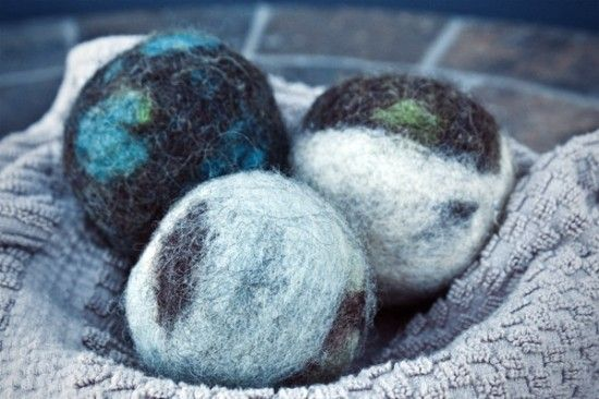 How To Make Felted Wool Dryer Balls With Images Wool Dryer Balls