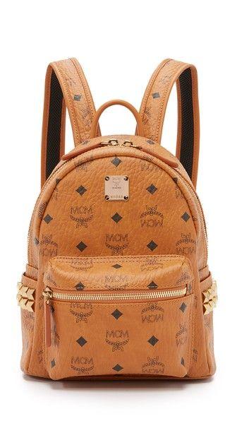 MCM Side Stud Mini Stark Backpack