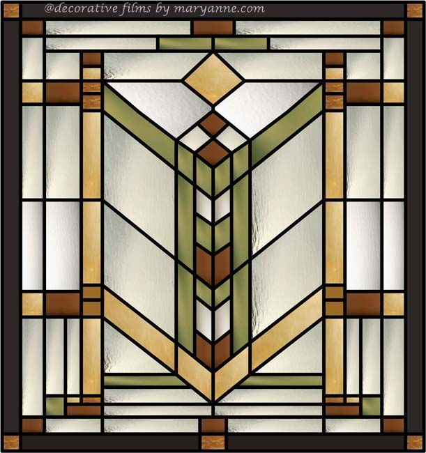 Exceptional Decorative Stained Glass Windows #5: Quoitzel Stained Glass Window Clings For Clear Transom Windows .