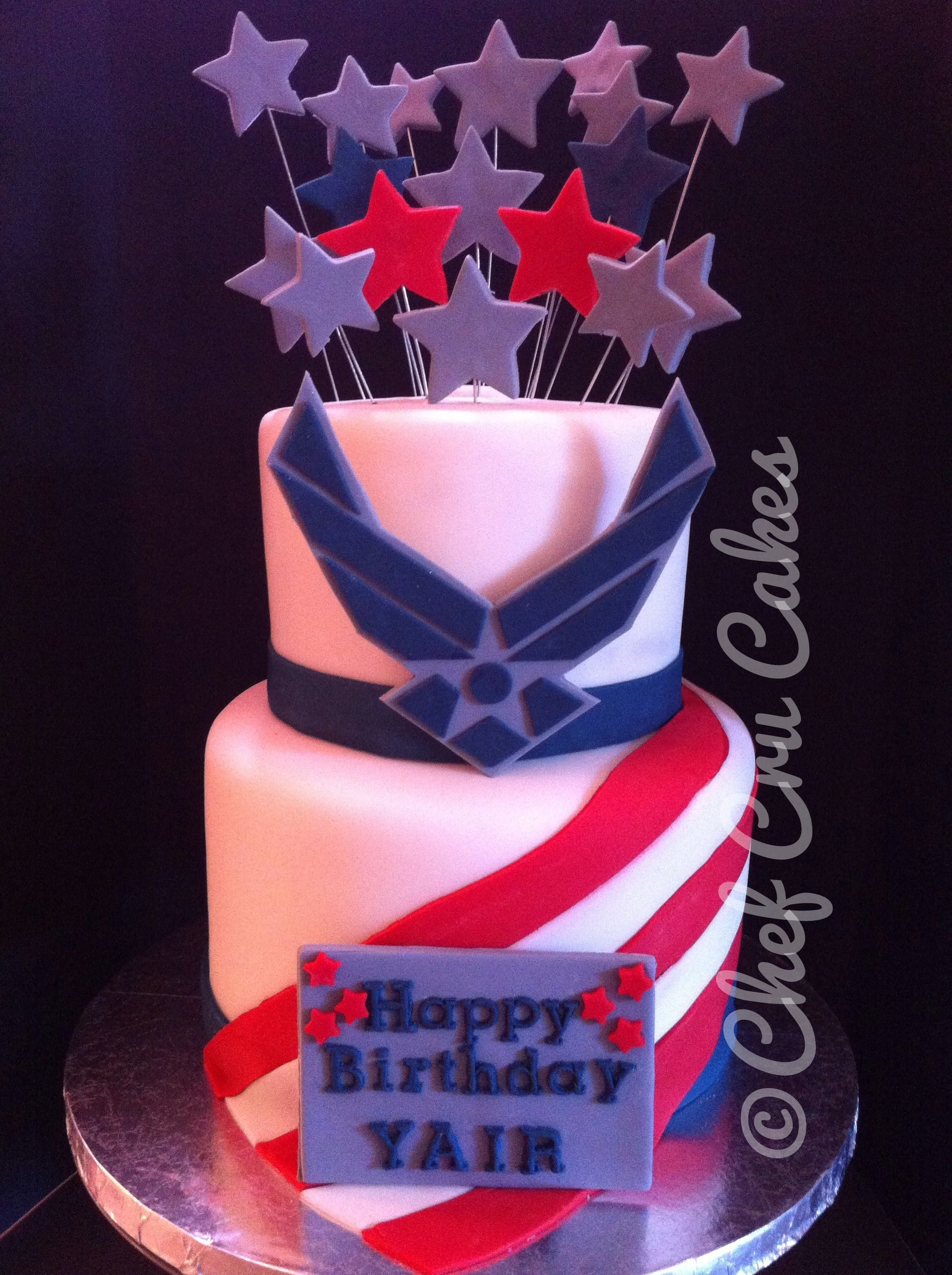 Air Force - Fondant was used for decorations on this cake. I can\'t ...