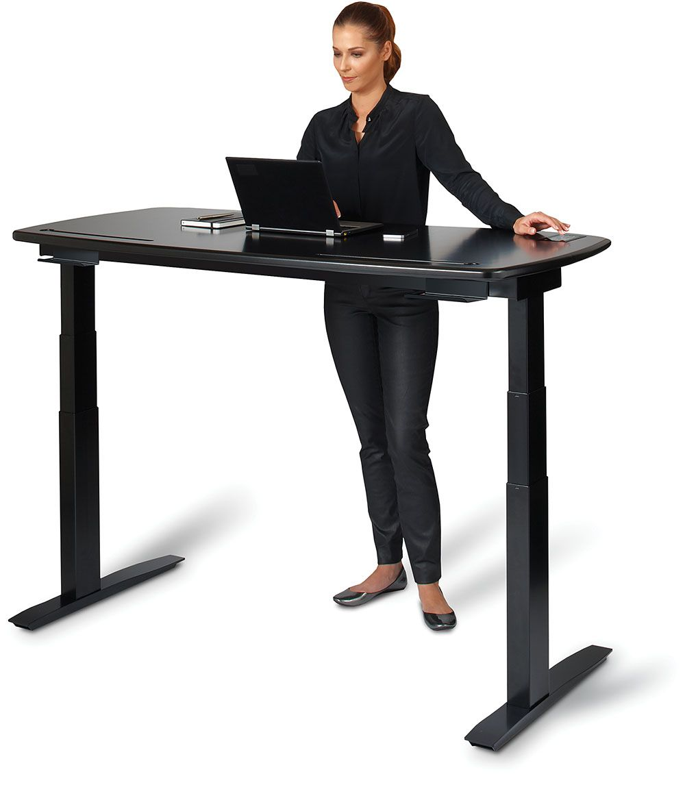 Create a better workspace with a deluxe standing height computer