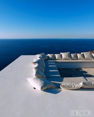 Santorini Patio Furniture: Roof Deck On Greek Island Of Antiparos