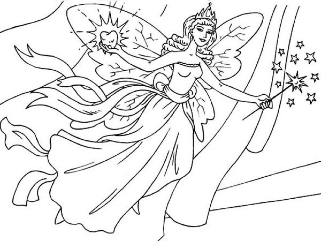 Spotlight Tooth Fairy Coloring Page Incredible Pages