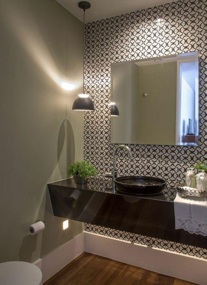 Tapeten Ideen Fur Eine Ausgefallene Wandgestaltung Badezimmer Tapete Badezimmer Schwarz Kleines Bad Renovierungen