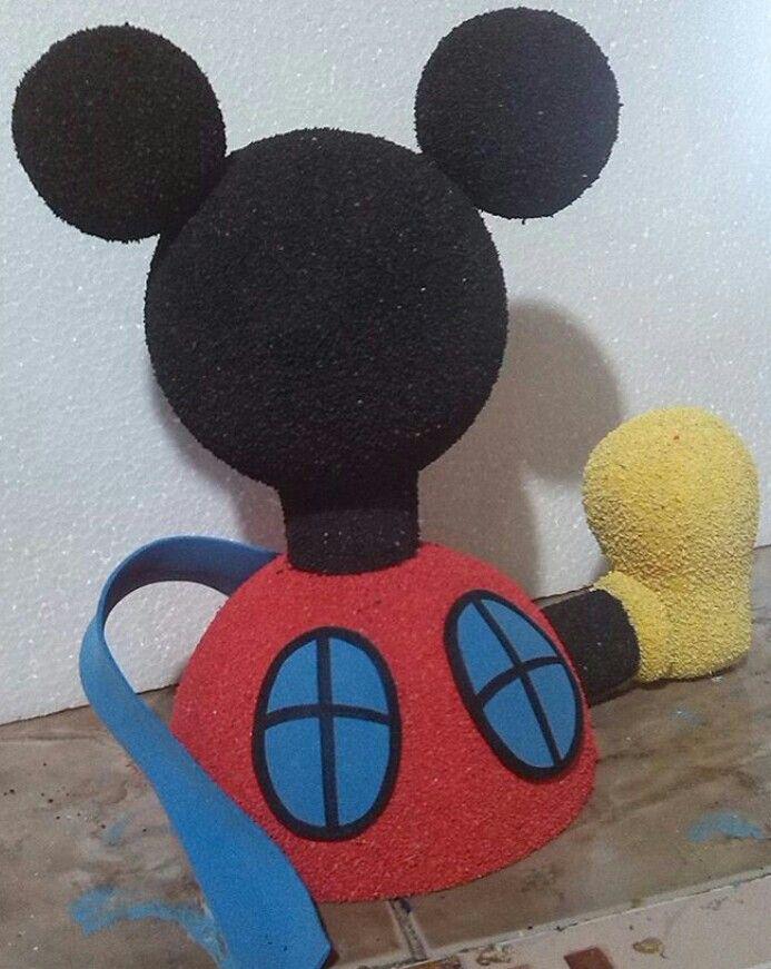 Escultura casa de Mickey textura gamuzada