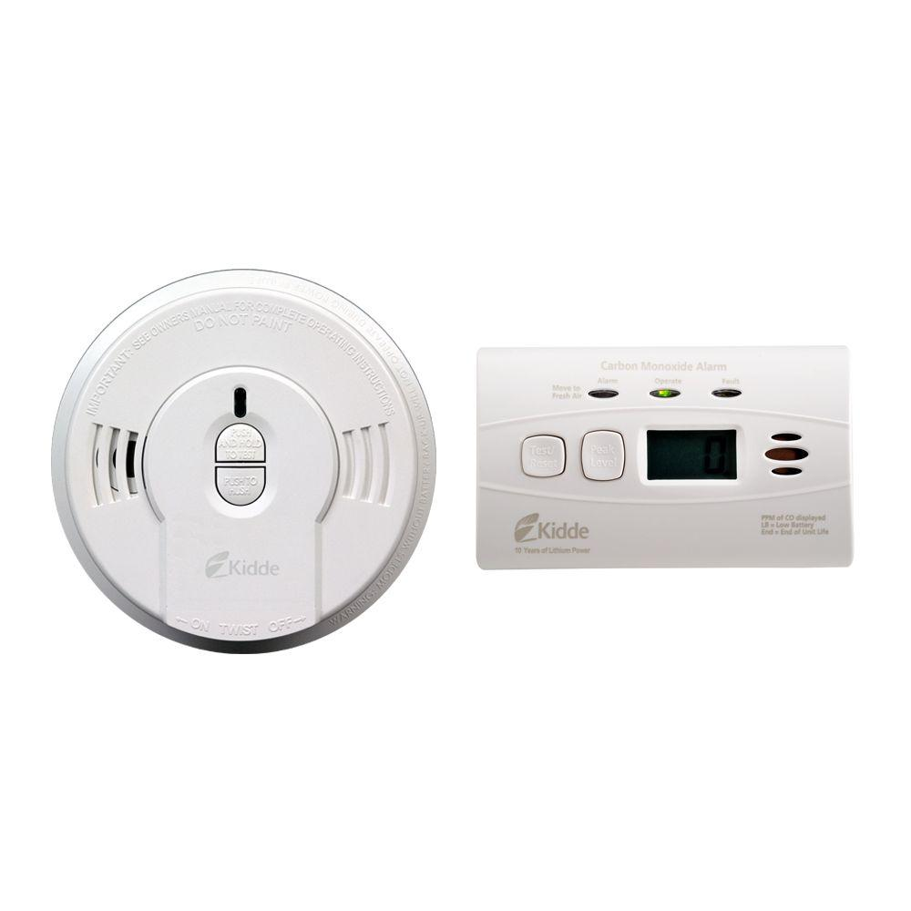 Kidde 10 Year Battery Operated Digital Combination Smoke And Co Alarm Bonus Pack 21026087 Battery Operated Gas Detector 10 Years