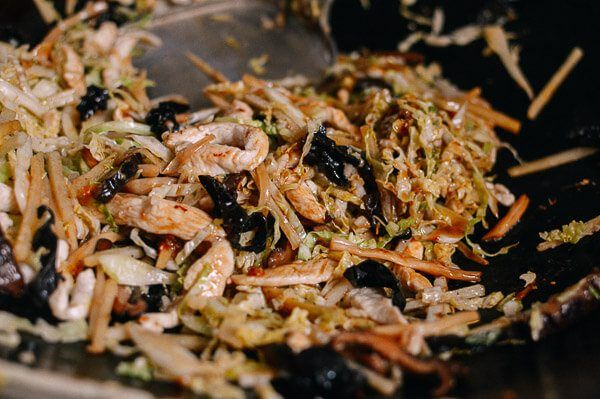 moo shu chicken with homemade pancakes  recipe with