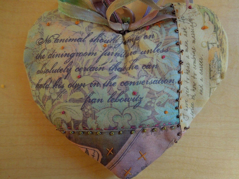 Quilted Lavender Heart Sachet. $19.95, via Etsy.
