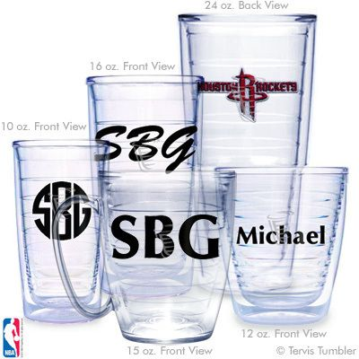 Houston Rockets Personalized Tervis Tumblers