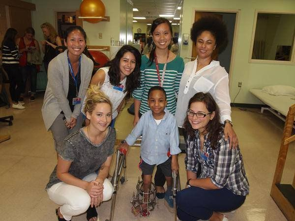 Pin for Later: Jennifer Lawrence Brings Joy to a Children's Hospital — and the Photos Will Touch Your Heart