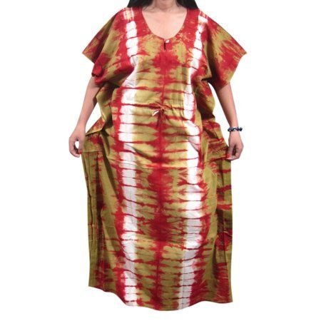 456ed90ccb Mogul Women s Cotton Maxi Caftan Printed Night Dress Evening Wear House  Dress XXL