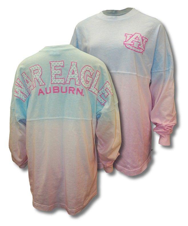 7f1ca488ae06 Ladies Spirit football shirt Quatrefoil War Eagle - Cotton Candy Color