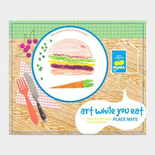 Entertain kids at restaurants: Art While You Eat placemats at MoMA store