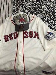 #Boston MA Merchandise / New 2013 #WorldSeries #RedSox #Jersey W/ NEW ERA #CAP - Geebo