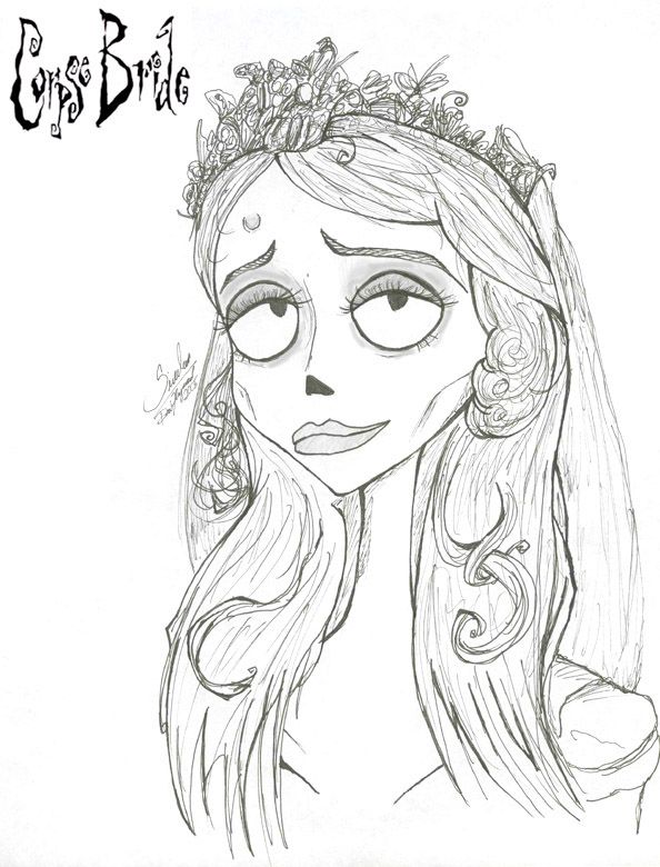 corpse bride coloring pages corpse bride drawing   Google Search | Corpse Bride | Pinterest  corpse bride coloring pages