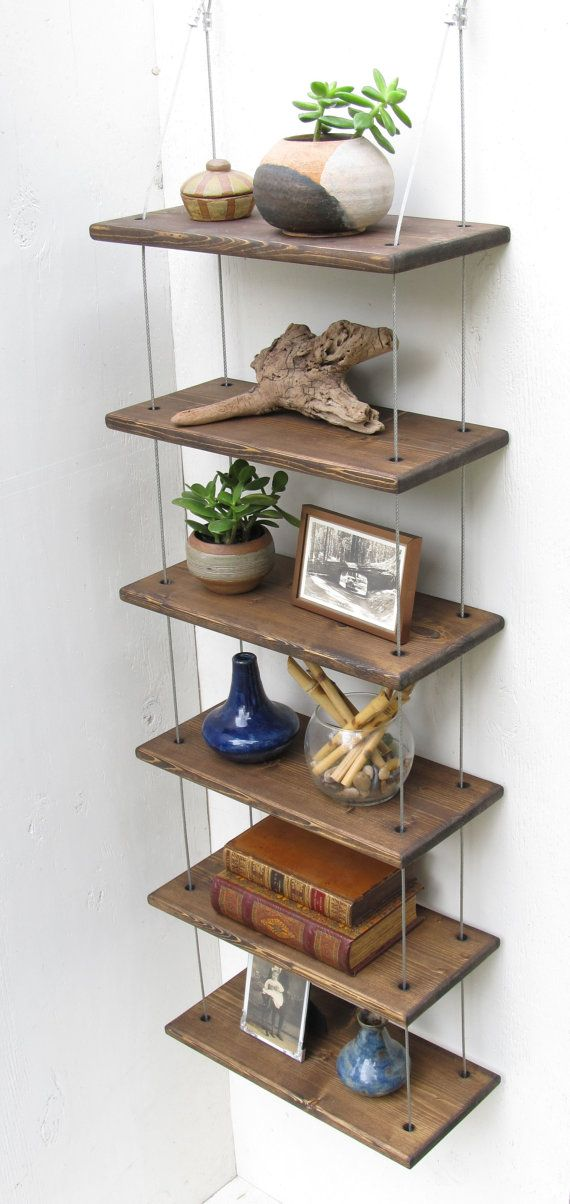 Beau Of The Most Creative Hanging Shelves Designs Diy Hanging Shelves Ideas, Hanging  Shelves Ideas Living Room, Hanging Shelves Ideas Shelf Brackets, ...