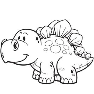 Coloriage Facile Dinosaure.Coloriage Dinosaure Facile En Ligne Gratuit A Imprimer