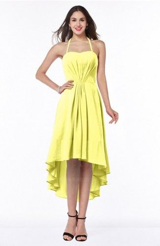 Pale yellow casual dress