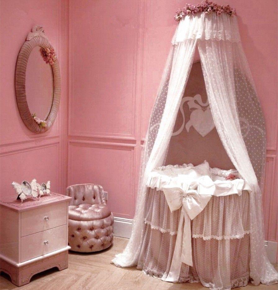 Bisini Moderne Rond Bebe Berceau Princesse Rose Bebe Berceau Style