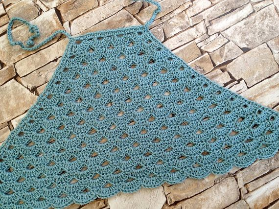 Crochet toddler baby top Blue open back childrens top Summer beach clothing for kids Boho festival halter top Crochet top Girls outfit Gift