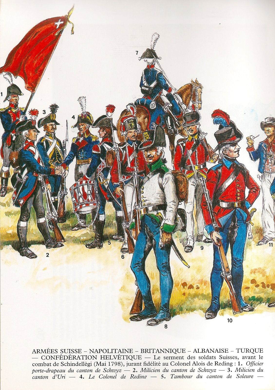 Armata Svizzera Napoletana Inglese Turca Albanese E Svizzera