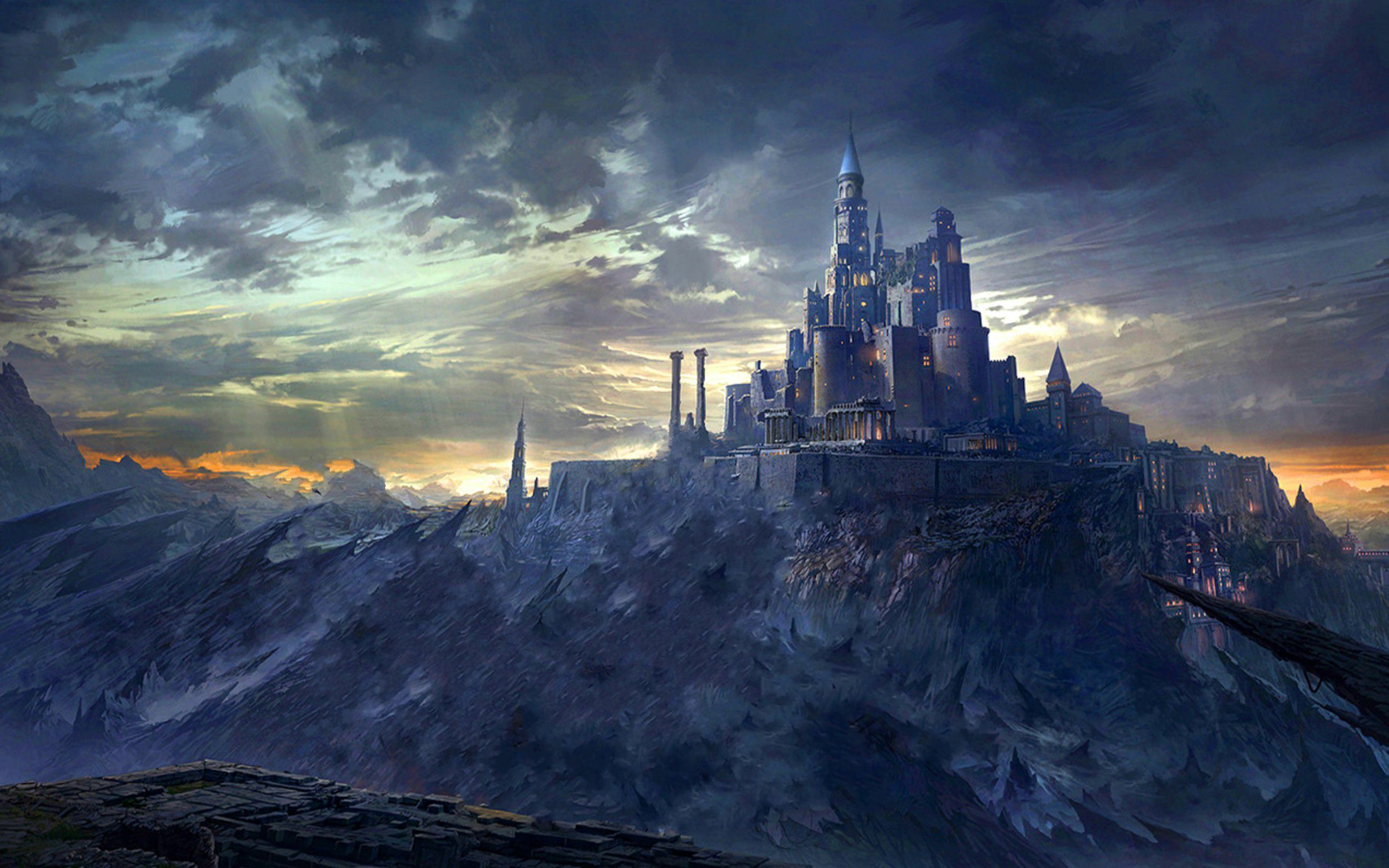 Castle On The Mountain wallpaper free | artistry ~ realms ...