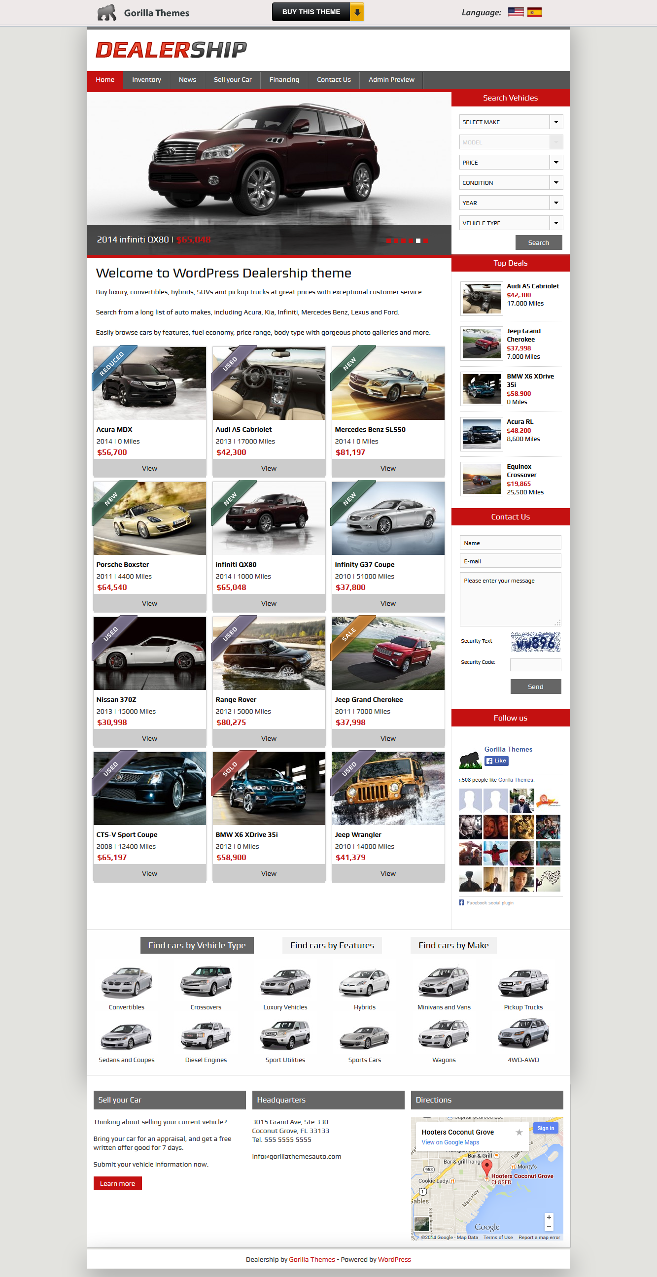 Dealership From Gorilla Themes A Stunning Wordpress Theme