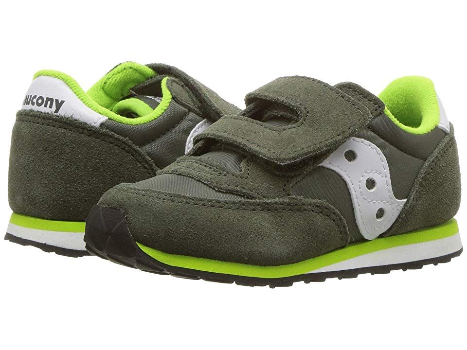 ae0b88cf53 Saucony Kids Originals Jazz Hook Loop (Toddler/Little Kid) (Green/White)  Boys Shoes. It's never too early to get stylish with the Baby Jazz HL  sneakers from ...