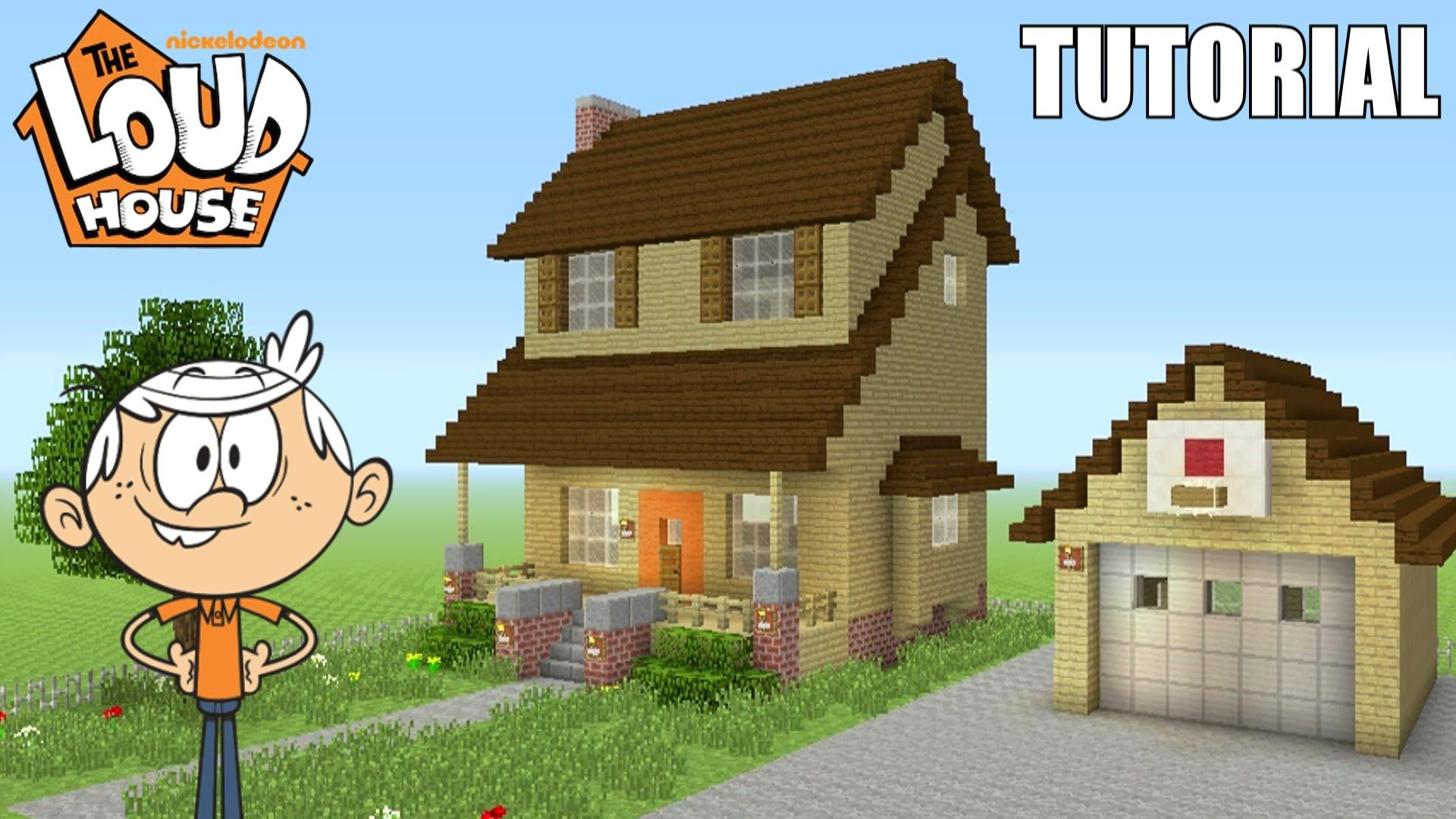 Minecraft Tutorial How To Make The Loud House House The Loud - Minecraft grobe hauser download