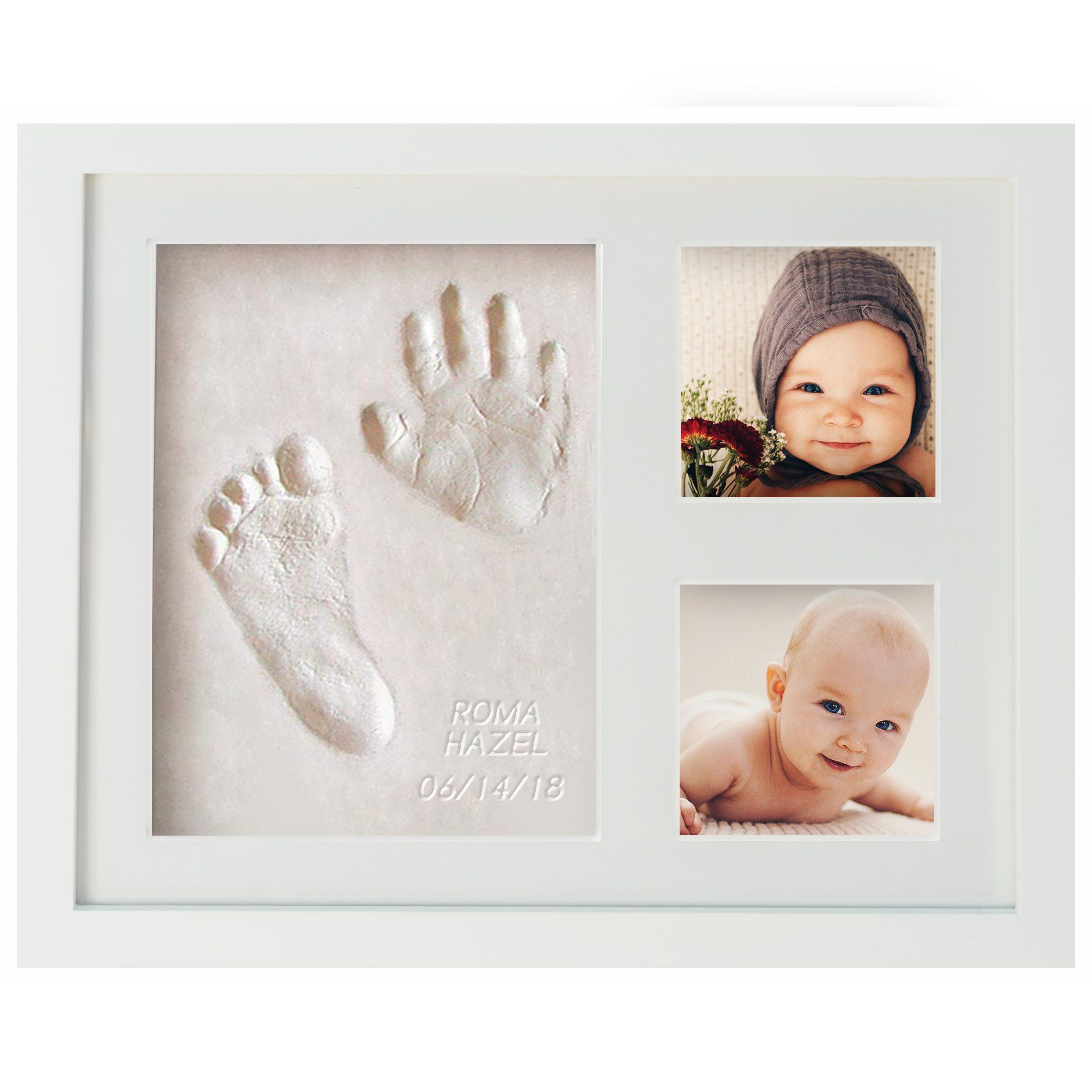 Love Baby Handprint Kit /& Footprint Photo Frame for Newborn Girls and Boys,Perfect Baby Shower Gifts,Great Baby Registry Gifts,Keepsake Box Decorations for Room Wall Nursery Decor
