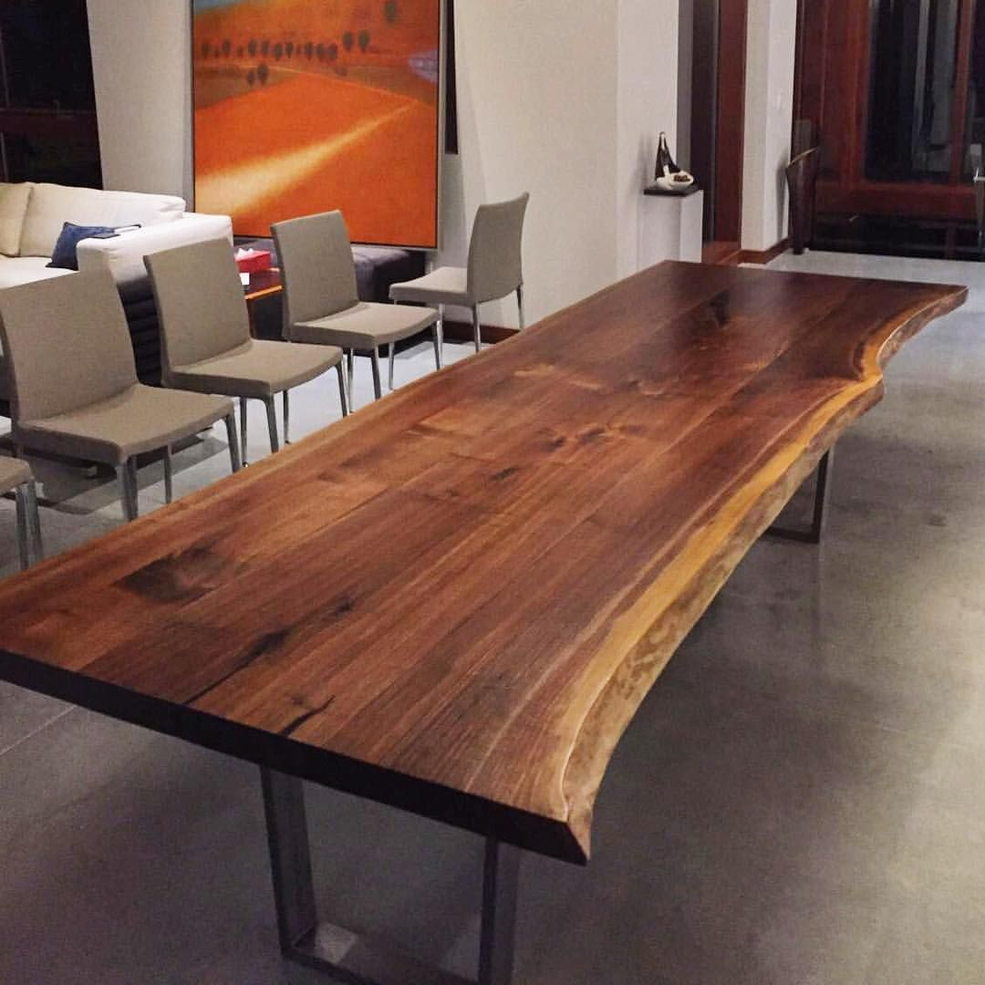 Live Edge Dining Room Tables Toronto With Images Live Edge Dining Room Dining Table Gold