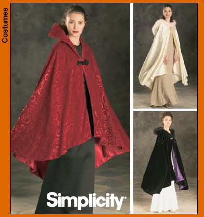Simplicity 4947 SEWING PATTERN Vintage Lined Cape LOTR/Gothic/Goth/Opera OOP