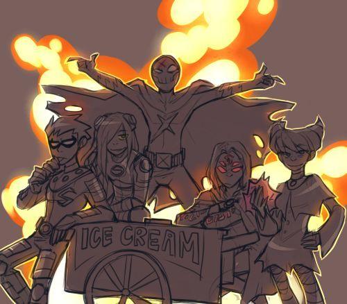 Rule dcau raven starfire teen titans terra