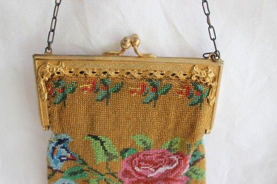 Borsa di perline vintage borsa oro con perline oro Micro di JITTT