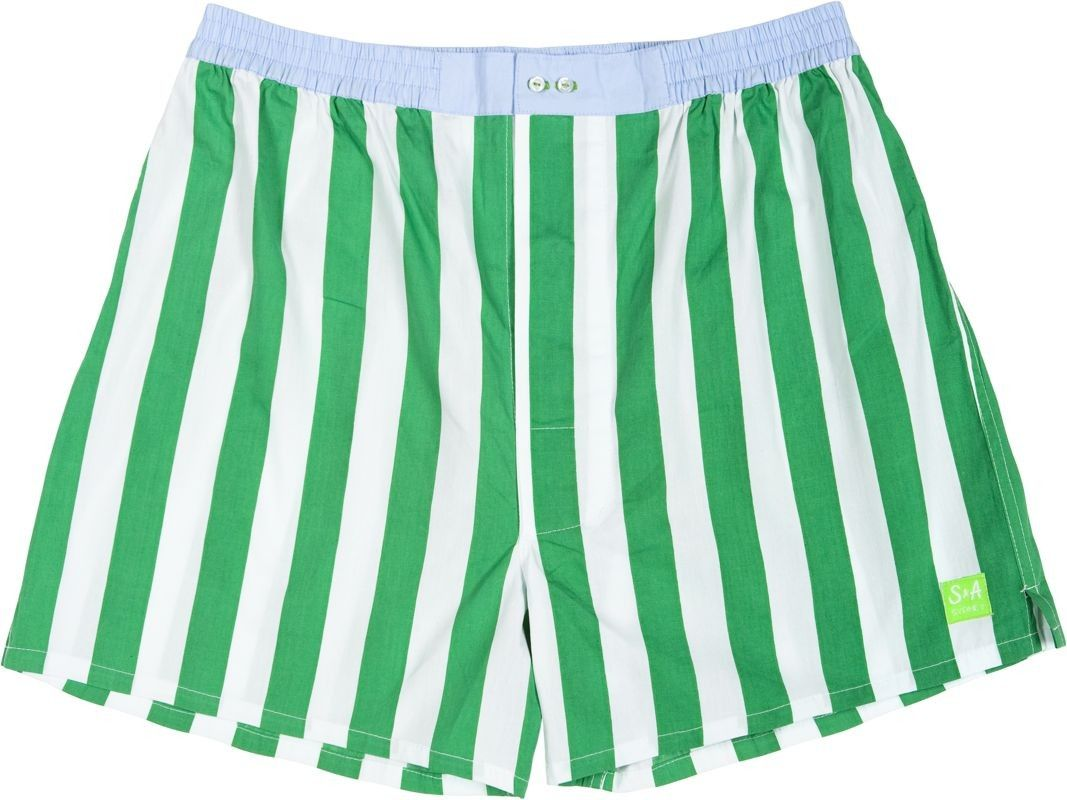 Sant and Abel // Green and White Stripe Men's Boxer Shorts #boxers ...