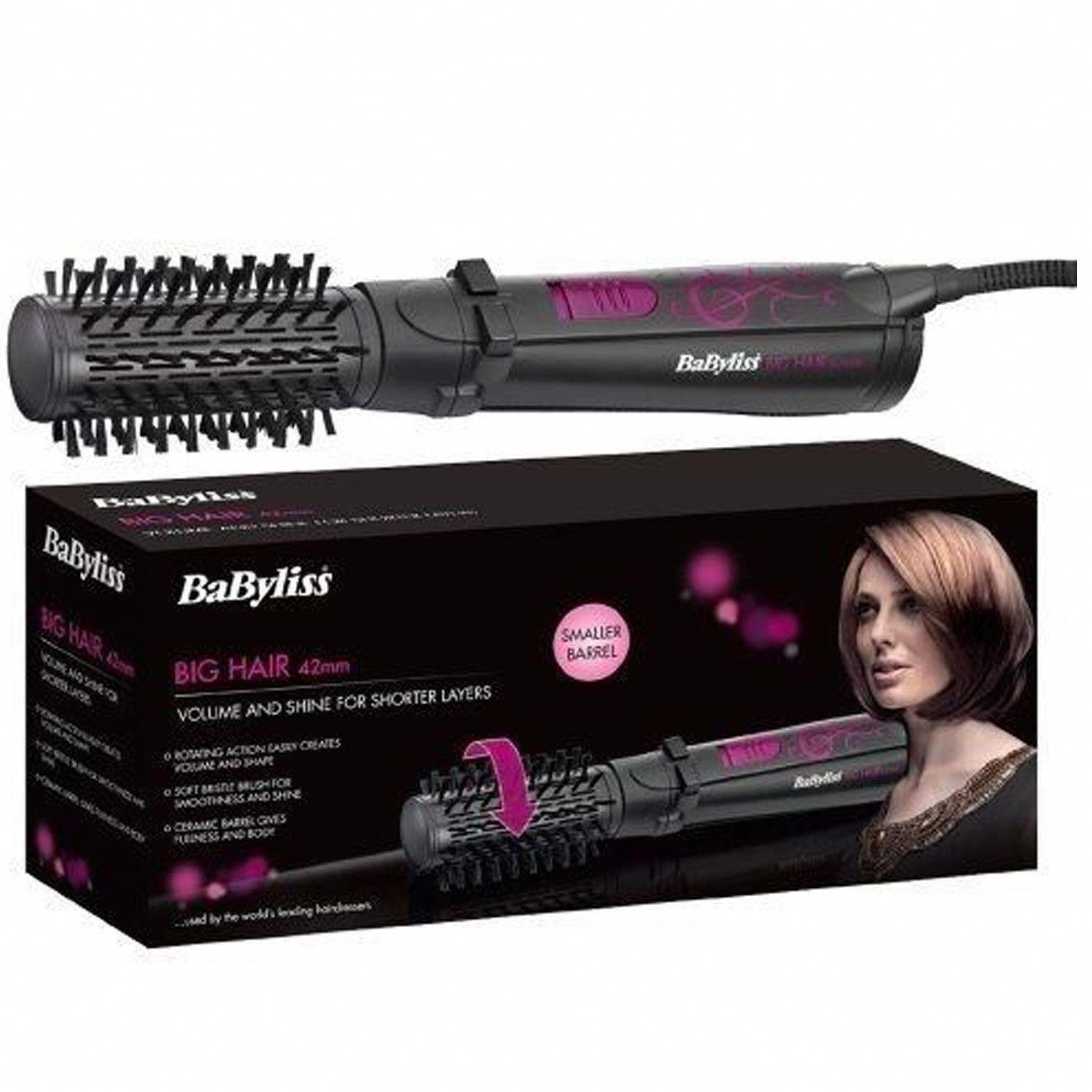 Babyliss 2777u Big Hair Rotating Hot Air Brush 42mm Hair Styler Soft Bristles Nocasualtywanted Hair Styler Big Hair Hair Tools