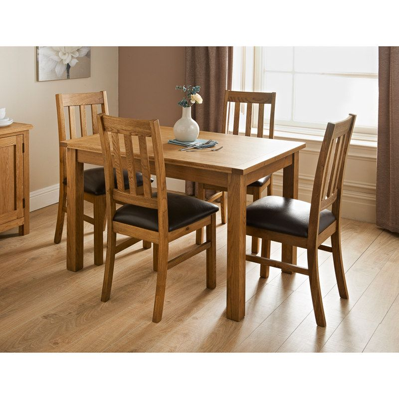 Buy The Oxford 120Cm Solid Oak Dining Table With Benches And Entrancing Dining Room Chairs Oak Inspiration