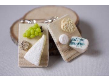 Boucle d oreille part de fromage