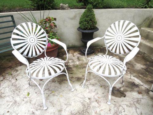deco garden furniture. a pair of francois carre french art deco sunburst spring chairs garden furniture u