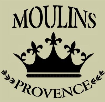 Moulins de Provence with Royal Crown 10x9