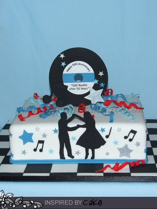 1950 S Cake With Images Rock And Roll Birthday Golden Wedding