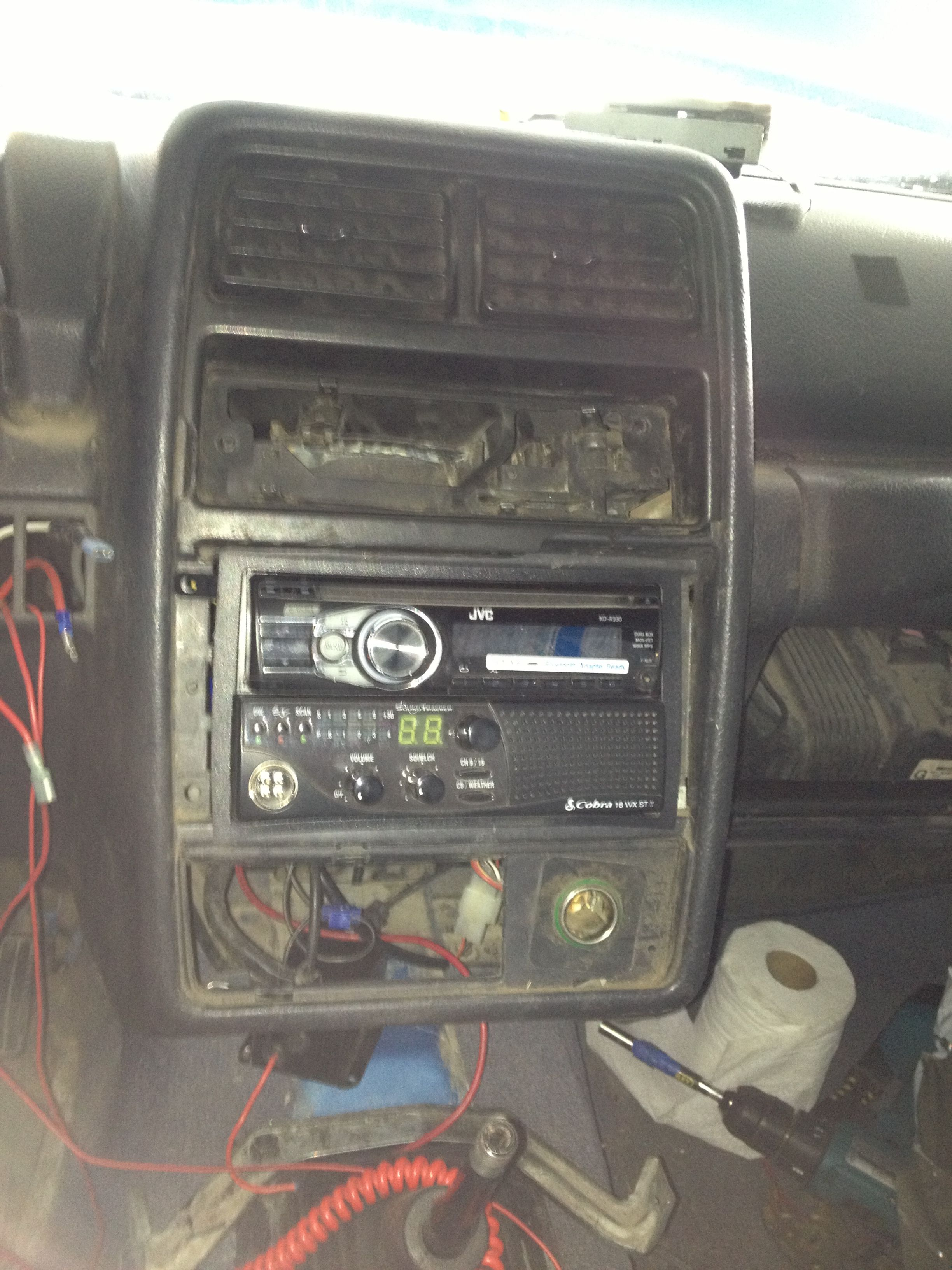 1994 Geo Tracker Cb Stereo In Dash Install Car Radio Installation Projects